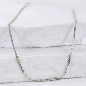 Sterling silver Italy 2mm serpentine chain necklace