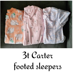 3t Carter footed sleepers