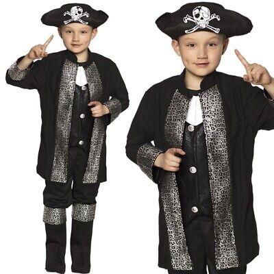 Pirat Jack Seeräuber Kinder Kostüm Jungen - Jacke mit Hose Stiefelstulpen & (Kostüm Mit Stulpen)