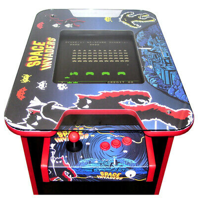Retro Arcade Cocktail Table Machine | 60 Arcade Games | Space Invader Theme