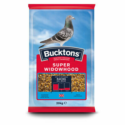 Bucktons Super Widowhood Pigeon Feed - Racing Bird Seed Mix - High Carb - 20kg
