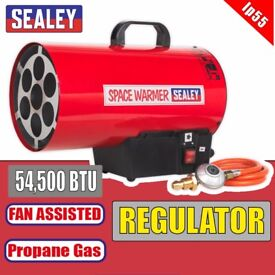 Sealey Tools LP55 Space Warmer Propane Heater 54,500Btu/hr Gas Blow Heater - infrared diesel | keros