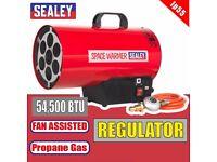 Sealey Tools LP55 Space Warmer Propane Heater 54,500Btu/hr Gas Blow Heater - infrared diesel   keros