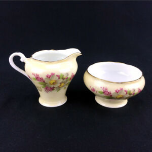 Aynsley Creamer & Sugar Bowl Set Vintage English Fine Bone China