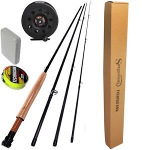 4 Sections Fly Fishing Rod Set 2.7M #5/6 Fly Rod and Reel Combo