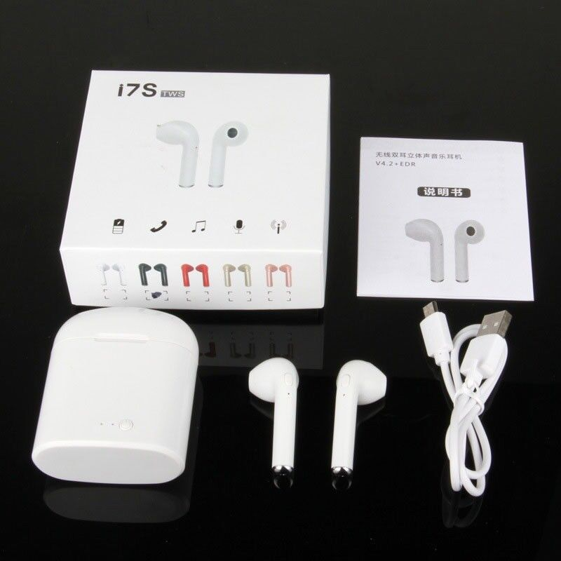 100 X Wireless Earphones I7s Tws White Earpod /Airpods Iphone Samsung JOB LOT