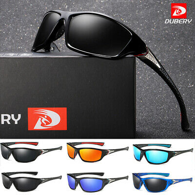 DUBERY Mens Polarized Sunglasses Riding Outdoor Sport Fishing Goggles Glasses UK