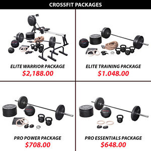 Olympic Plate Kettlebell Crossfit Package Set Barbell Weight