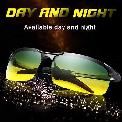 Day Night Vision Polarized Sunglasses Driving Sports Pilot Sun Glasses For (Polarized Sunglasses For Driving)