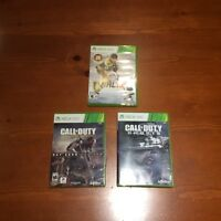 18 JEUX DE XBOX 360 DONT NHL15, CALL OF DUTY ADVENCED ET GHOSTS