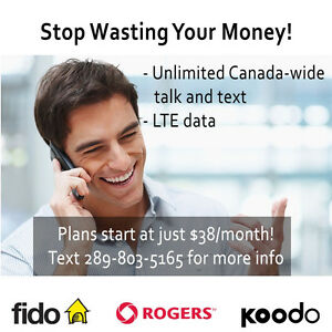 ROGERS/FIDO- 5/10/15 GB LTE DATA PLANS
