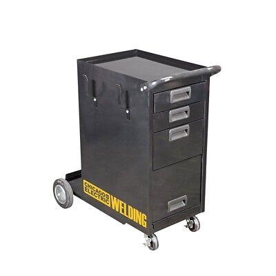 Rolling Welding Storage Cabinet Drawer Tank Wheels Mig Tig Flux Plasma Shelves