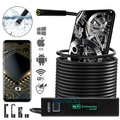 Waterproof Underwater Inspection Snake Wifi Endoscope Borescope Camera For Phone