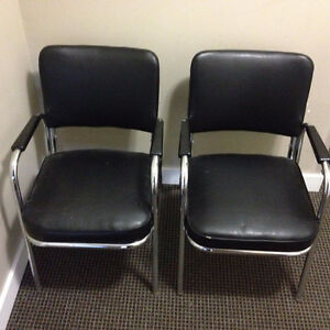 Black and Chrome Chairs