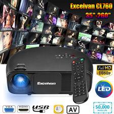 Excelvan CL760 1080P 3D 3200Lumens LED Vidéo Projecteur Cinéma 5000:1 For PC USB