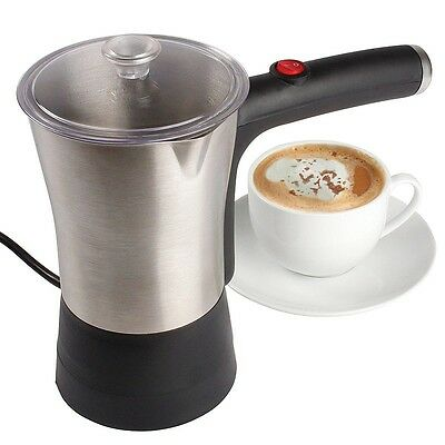 Stainless Steel Milk Frother (For Coffee, Hot Chocolate) 300ml Serves Approx 4