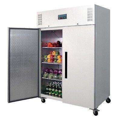 Polar Tiefkühlschrank weiß 2-türig 1200L Gewerbe Gastronomie Gefrierschrank