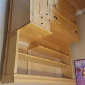Baby dresser/change table with a hutch