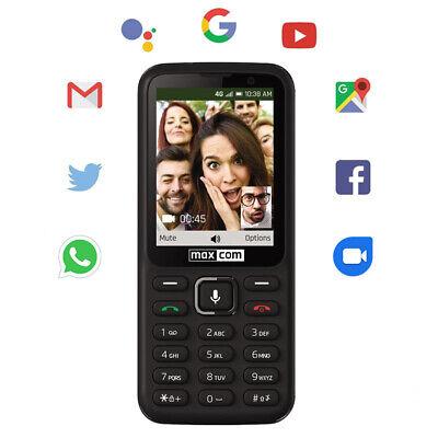 Android Phone - Maxcom 4G Unlocked SIM Free Smart Feature Mobile Phone NEW - Black (MK241)