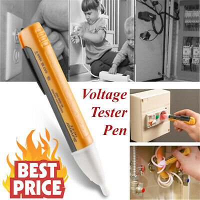 Voltage Tester Pen Electric Power Volt Alert Detector 1AC-D Non Contact UK