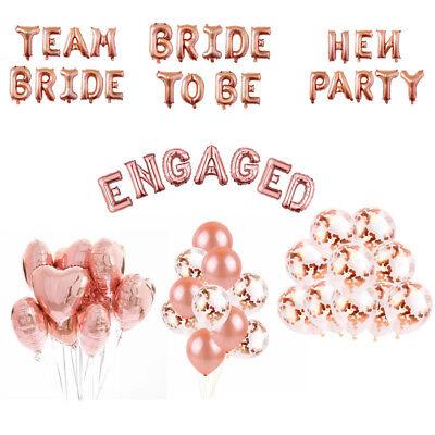 Rose Gold Serie Folie Latex Ballon Set Helium Bride To Be Hochzeit Party Liebe