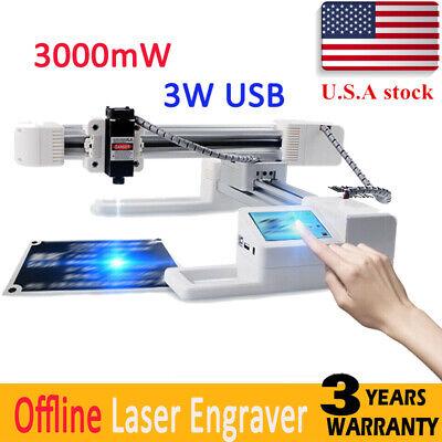 3000mw Usb Offline Laser Engraver Mark Printer Cutter Carver Engraving Machine