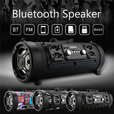 Wireless Portable bluetooth Speaker Stereo Super Bass HIFI AUX USB TF FM
