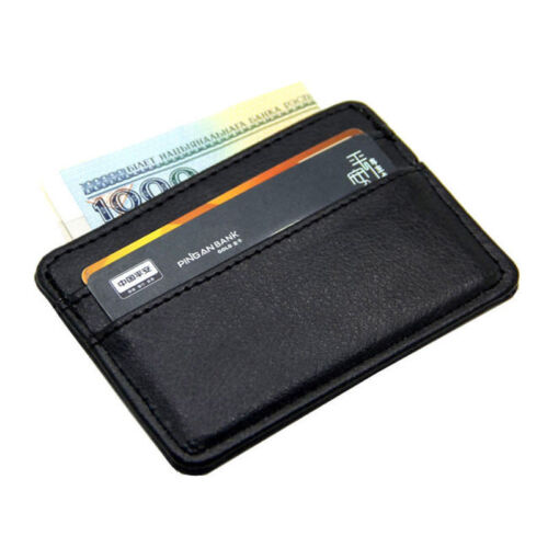 Genuine Leather Mens Small Id Credit Card Wallet Holder Slim