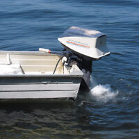 14' Deep Fisherman with 25HP Evinrude and Trailer