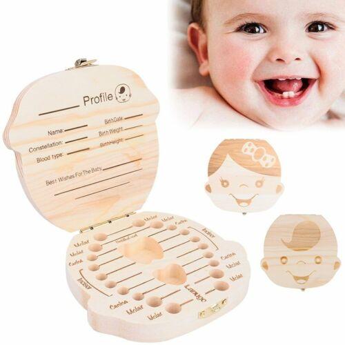 DE Taufe Milchzahndose Zahndose Holz Milchzähne Box Souvenir Geschenk für Kinder