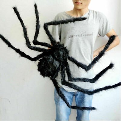Halloween Spider Prop (150CM Hairy Giant Spider Decoration Halloween Prop Haunted House Party Decor)
