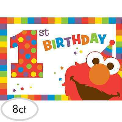 Sesame Street Elmo 1st Birthday Invitations 8ct ~Party Decoration Favor Supplies