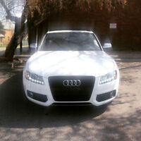2010 WHITE Audi S5 Coupe (2 door) Saddle RED Int.