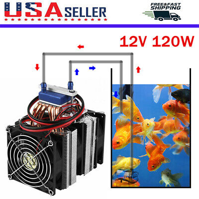 Diy 12v120w Aquarium Fish Tank Cooling Fans Refrigerator Chillers Water Cooler