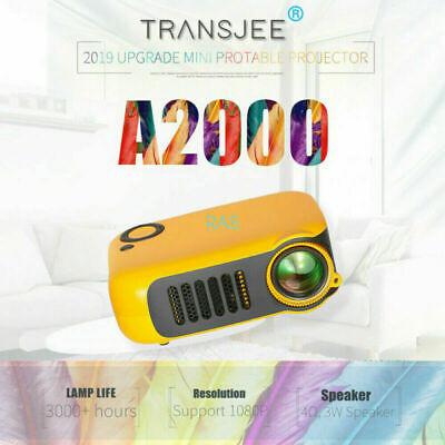 2020 Mini Portable Pocket LCD Projector 1080P HD Home Theater Cinema USB HDMI AV