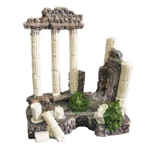 Aquarium Decorations Ornament Accessories Fish Tank Items Ancient Greek Temple