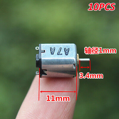 10pcs Dc 3v 11000rpm High Speed Micro Mini M10 10mm Electric Motor Diy Toy Hobby