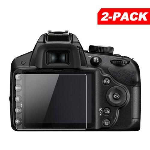 2x Tempered Glass Screen Protector for Nikon D3500 D3400 D3300 D3200 SLR Camera