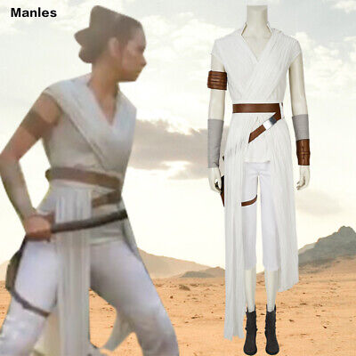 Star Wars 9 The Rise of Skywalker Costume Rey Cosplay Comic Con Halloween - Comic Con Outfits