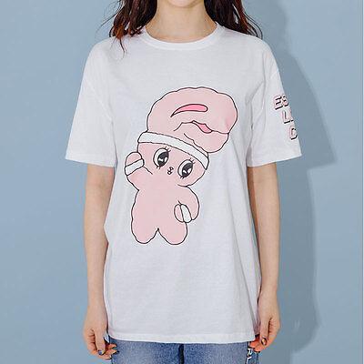 EstherLovesYou X Chuu Season 4 Women Girls Bunny White Loose Fit T Shirts
