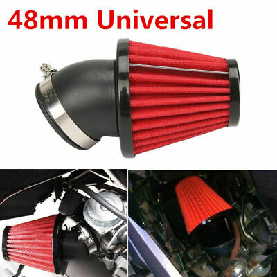 UNIVERSAL 48MM 45 BEND 3 COLD AIR INTAKE FILTER FOR MOTORCYCLE CAR