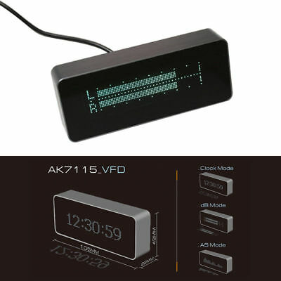 Ak7115 Vfd High Precision Clock Audio Vu Meter Music Spectrum Db Indicator