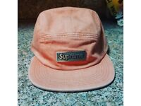 *REDUCED* Supreme pink metal plate camp cap