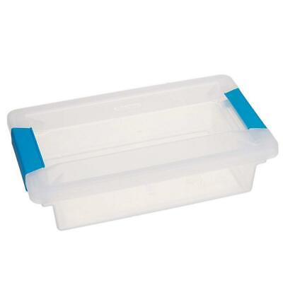 Sterilite Small File Clip Box Clear Storage Tote Container with Lid (6 - Small Storage Boxes With Lids
