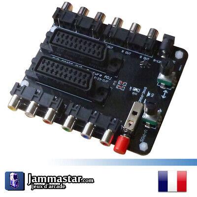 Carte positionnement Péritel - TV Picture Adjustment SNES Megadrive cable SCART
