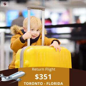 Book your Return flight Toronto - Florida $351