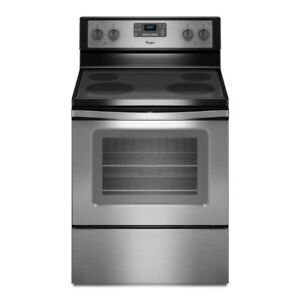 Whirlpool stainless steel Electric Range with Ceramic Glass
