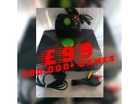 Original XBOX 160GIG, Refurbished, Reborn, All leads, One Controller, Games