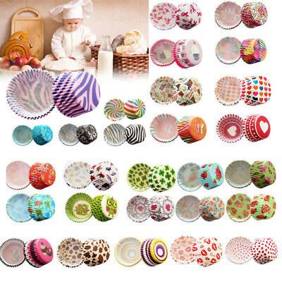 100pcs Colorful Paper Cake Cupcake Liner Case Wrapper Muffin Baking Cup - Cupcake Paper