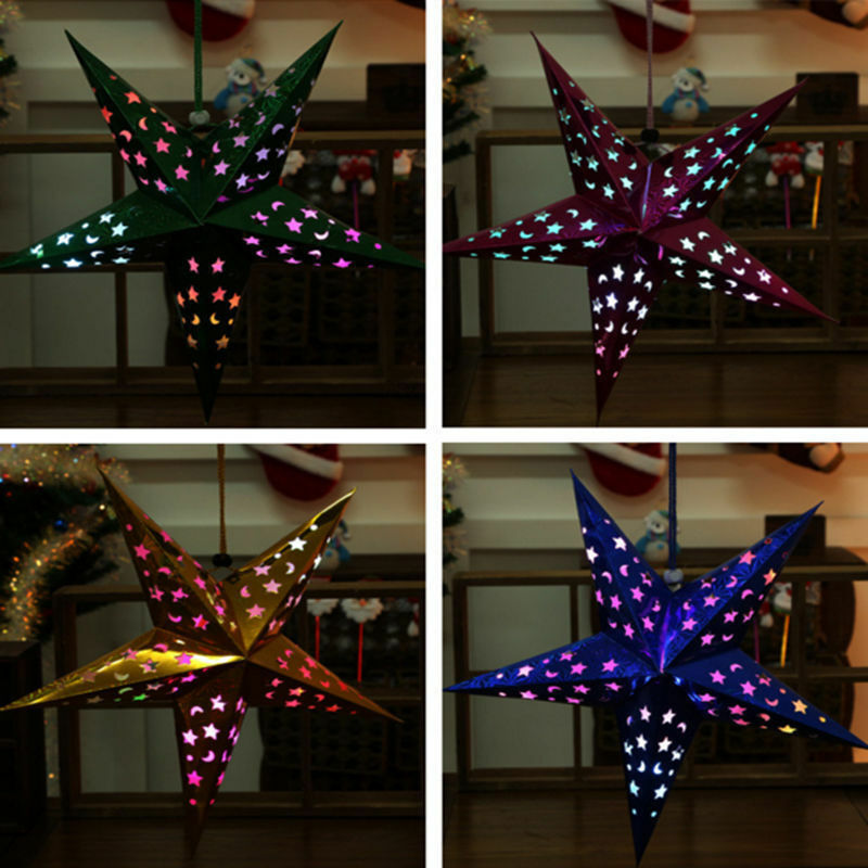 xmas string hanging star christmas party decoration christmas tree ornament